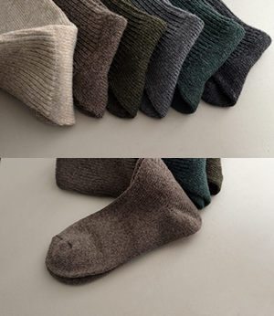 mute wool long goljisocks[양말ARC50] 10color_free size안나앤모드