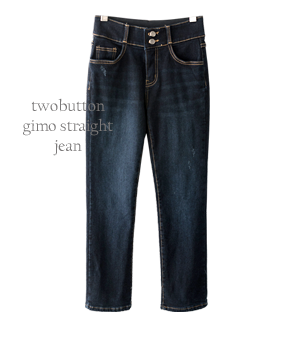 twobutton gimo straight jean[팬츠AQQ37] one color_4size안나앤모드