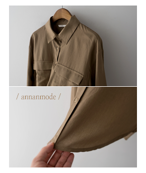 chest pocket shirt[셔츠AN348] 3color_free size안나앤모드