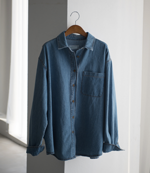 stitch rouge denim shirt[셔츠BHR41] 2color_free size안나앤모드