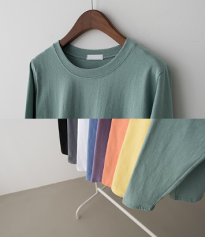 colorful round cotton t[티셔츠ATE55] 8color_free size안나앤모드