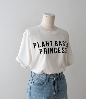 plant silky lettering t[티셔츠BG34] 4color_free size안나앤모드